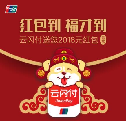 中国银联官方活动:注册免费领红包,每天都可以领,最低8.8元,最高2018元!